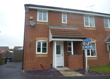 Thumbnail 2 bed semi-detached house to rent in Lavender Close, Shirebrook, Mansfield