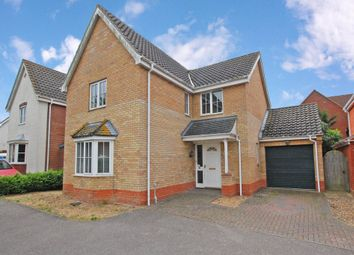 Thumbnail 4 bedroom detached house for sale in Pepys Avenue, Worlingham, Beccles