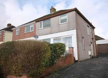 Thumbnail 3 bedroom semi-detached house for sale in Litchaton Crescent, Plympton, Plymouth