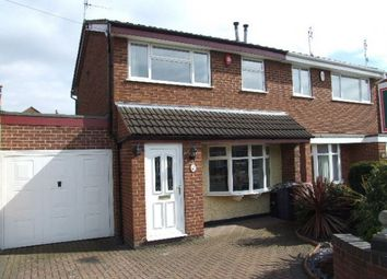 Thumbnail 3 bedroom semi-detached house to rent in Waverley Lane, Burton-On-Trent