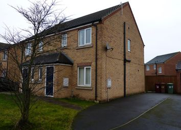 Thumbnail 3 bed semi-detached house for sale in Oakwell Close, Scunthorpe