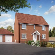 Thumbnail 4 bedroom detached house for sale in Morello Court, King's Lynn