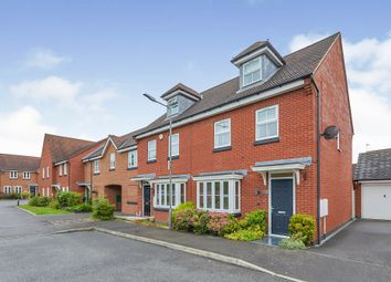 Thumbnail 3 bed end terrace house for sale in Anglia Drive, Church Gresley, Swadlincote, Derbyshire