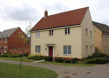 Thumbnail 4 bed detached house to rent in Kingfisher Close, Cringleford, Norwich