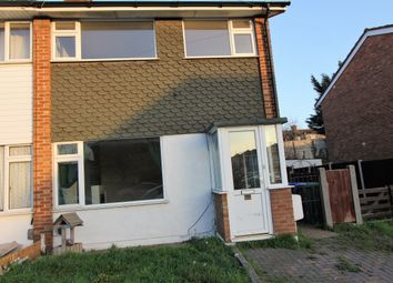 Thumbnail 3 bed end terrace house to rent in Hollowfield Avenue, Grays