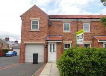 Thumbnail 3 bed semi-detached house to rent in Kings Avenue, Langley Park, Durham