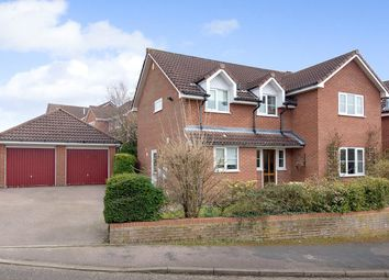Thumbnail 4 bed detached house for sale in Fiveacres, Stoke Holy Cross, Norwich, Norfolk