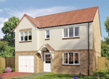 "Thumbnail 5 bed detached house for sale in ""The Thornwood"" at Ladyacre Way, Irvine"