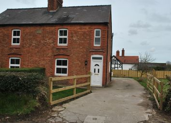 Thumbnail 2 bed semi-detached house to rent in Hampton, Malpas, Cheshire