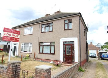 Thumbnail 3 bed semi-detached house for sale in Warren Road, Wilmington, Kent
