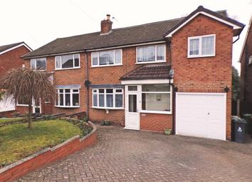 Thumbnail 4 bed semi-detached house for sale in Bankside Crescent, Streetly, Sutton Coldfield, West Midlands