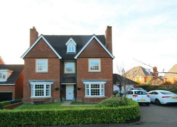 Thumbnail 5 bed detached house for sale in Marryat Close, Winwick, Warrington