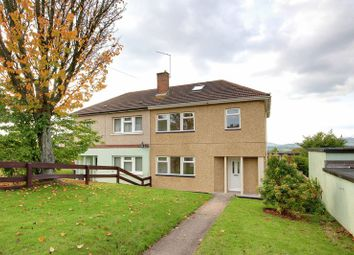 Thumbnail 4 bed semi-detached house for sale in Merlin Crescent, St. Julians, Newport