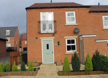 Thumbnail 2 bed end terrace house to rent in Suffolk Way, Church Gresley, Swadlincote, Derbyshire