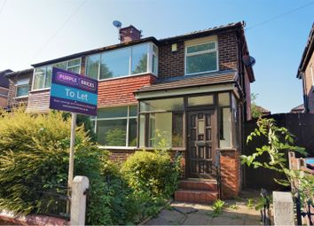 Thumbnail 3 bed semi-detached house to rent in Maldon Crescent, Manchester