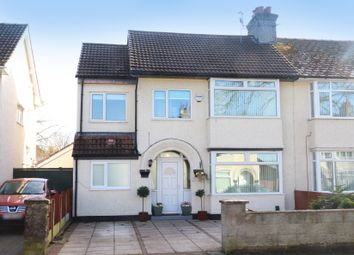 Thumbnail 5 bed semi-detached house for sale in Elgar Avenue, Eastham, Wirral
