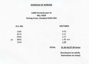 Thumbnail Land for sale in Hill View, Panteg Cross, Llandysul, Ceredigion