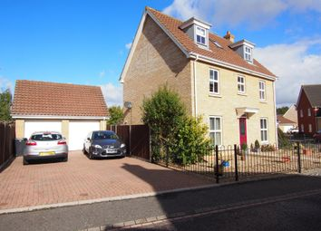 Thumbnail 5 bed detached house for sale in Burroughs Way, Wymondham