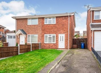 Thumbnail 2 bed semi-detached house for sale in Carlton Close, Heath Hayes, Cannock, Staffordshire