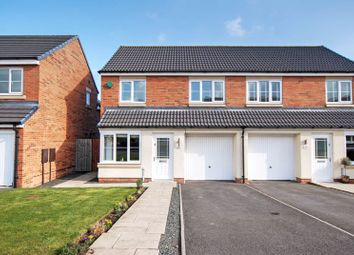 Thumbnail 3 bed semi-detached house for sale in Havannah Drive, Wideopen, Newcastle Upon Tyne
