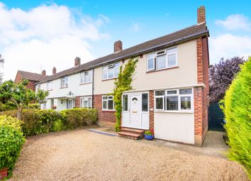 Thumbnail End terrace house for sale in Longbourne Way, Chertsey