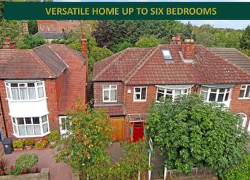 Thumbnail 5 bed semi-detached house for sale in Aber Road, Stoneygate, Leicester