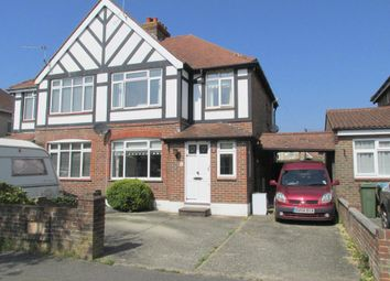 Thumbnail 3 bed semi-detached house for sale in Central Avenue, North Bersted, Bognor Regis, West Sussex