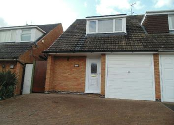Thumbnail 3 bed semi-detached house to rent in Reed Pool Close, Countesthorpe, Leicester