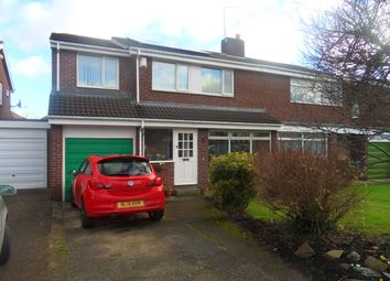 Thumbnail 4 bedroom semi-detached house for sale in Alnmouth Drive, Gosforth, Newcastle Upon Tyne