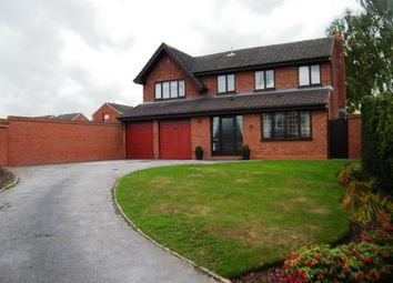 Thumbnail 4 bed detached house for sale in Wedgewood Close, Burntwood, Staffordshire, Staffs.