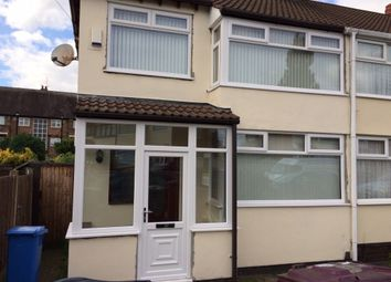 Thumbnail 3 bed semi-detached house to rent in Fairfield Crescent, Huyton, Liverpool