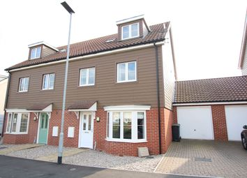 Thumbnail 4 bed town house for sale in Valley View Drive, Great Blakenham, Ipswich