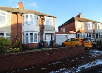 Thumbnail 3 bed semi-detached house to rent in Prestwick Gardens, Kenton, Newcastle Upon Tyne