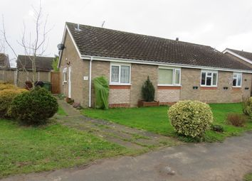 Thumbnail 2 bedroom semi-detached bungalow for sale in Rectory Road, Dickleburgh, Diss