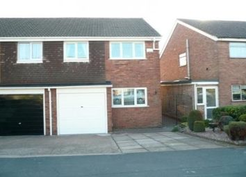 Thumbnail 3 bed semi-detached house to rent in Grange Road, Chasetown, Burntwood