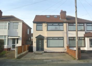 Thumbnail 4 bed semi-detached house for sale in Ashbourne Crescent, Huyton, Liverpool