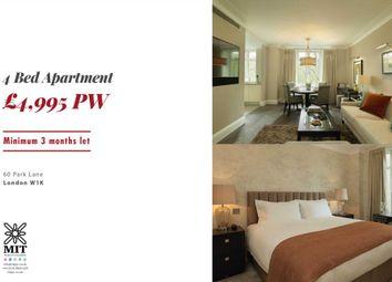 Thumbnail 4 bedroom flat to rent in Park Lane, London