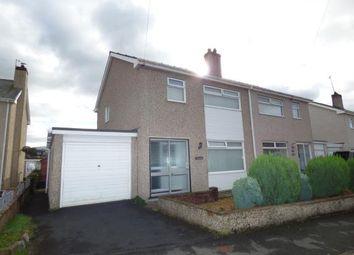 Thumbnail 3 bed semi-detached house for sale in Glanrafon Estate, Bontnewydd, Caernarfon, Gwynedd