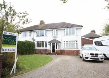 Thumbnail 4 bed semi-detached house for sale in Rigby Drive, Greasby, Wirral