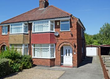 Thumbnail 3 bed semi-detached house for sale in Reighton Avenue, Rawcliffe, York