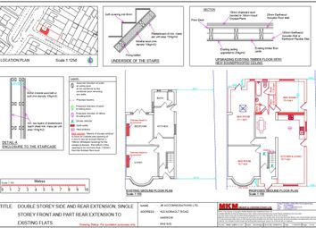 Thumbnail 3 bed detached house to rent in Northolt Road, South Harrow, Harrow