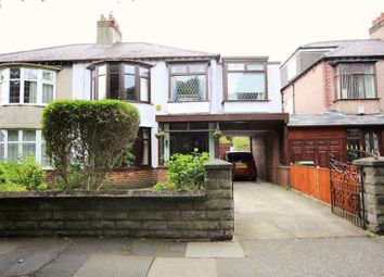 Thumbnail 4 bed semi-detached house for sale in Aigburth Hall Avenue, Grassendale, Liverpool