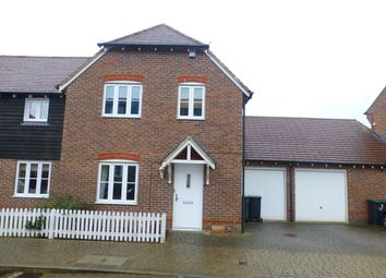 Thumbnail 3 bed semi-detached house to rent in Mcarthur Drive, Kings Hill, West Malling