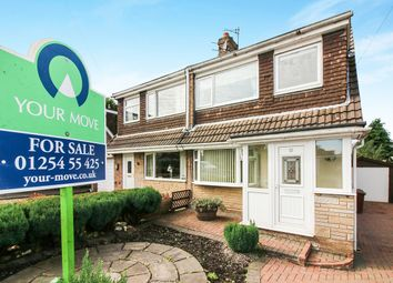 Thumbnail 3 bed semi-detached house for sale in Crediton Close, Blackburn