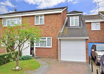 Thumbnail 3 bed semi-detached house for sale in Harvesters Close, Rainham, Gillingham, Kent