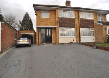 Thumbnail 3 bedroom semi-detached house for sale in Kynance Close, Luton