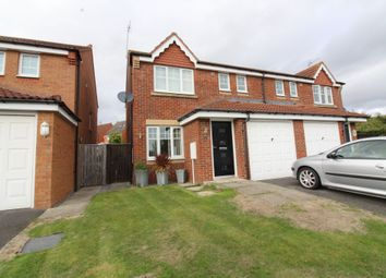 Thumbnail 3 bed semi-detached house for sale in Denewood Close, Willington, Crook
