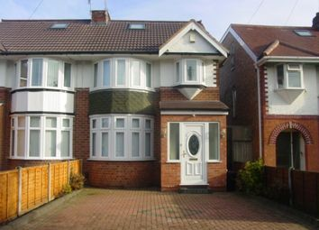 Thumbnail 1 bed semi-detached house to rent in Glendower Road, Birmingham