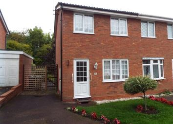 Thumbnail 2 bed semi-detached house for sale in Stoneleigh Close, Oakenshaw South, Redditch, Worcestershire