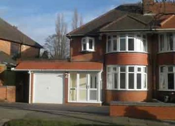 Thumbnail 3 bed semi-detached house to rent in West Avenue, Handsworth Wood